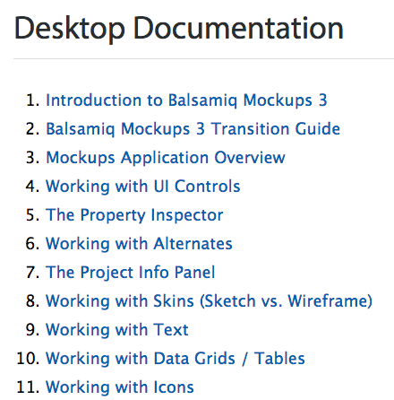 Previous Balsamiq Table of Contents