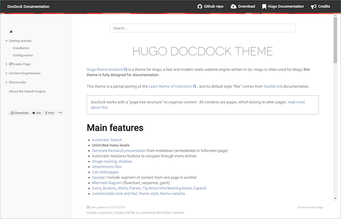 Hugo Docdock theme